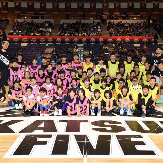 レバンガ北海道の選手たちによるバスケットボールクリニックを開催